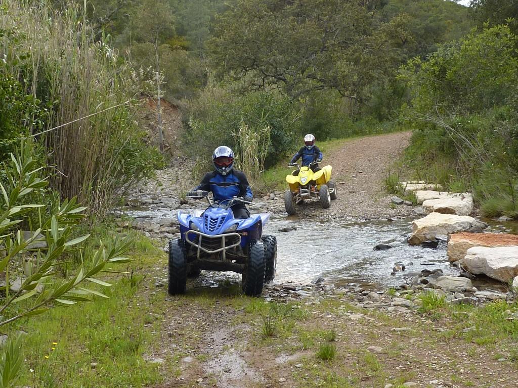 quad tour majorca crossing little rivers